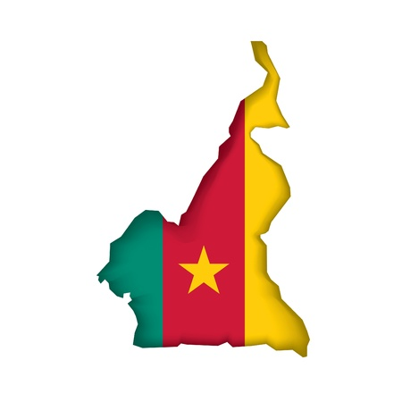 cameroon: map flag Cameroon