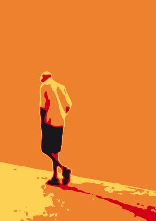 Man who walks alone photo