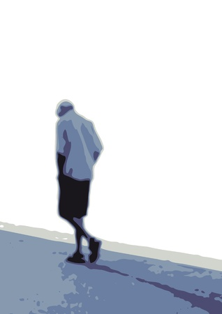 walking away: Man who walks alone