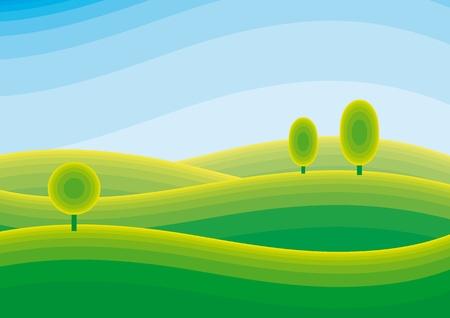 landscape Stock Vector - 10590116