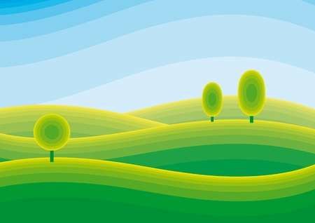 landscape Stock Vector - 10590116