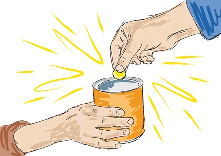 limosna: caridad