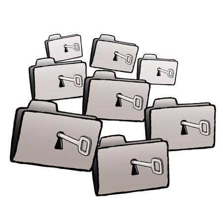Folders Stock Vector - 10590178