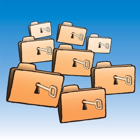 Folders Stock Vector - 10653713