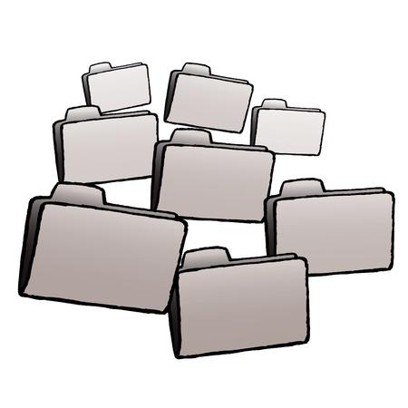 Folders Stock Vector - 10590156