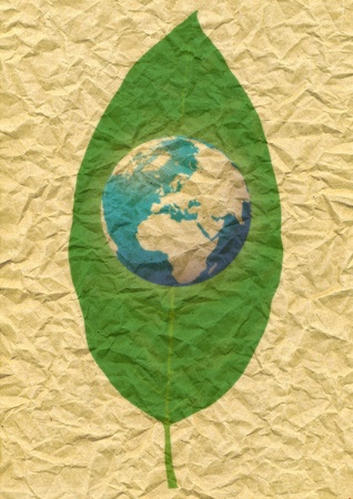 world and  leaf Stock Photo - 10590197