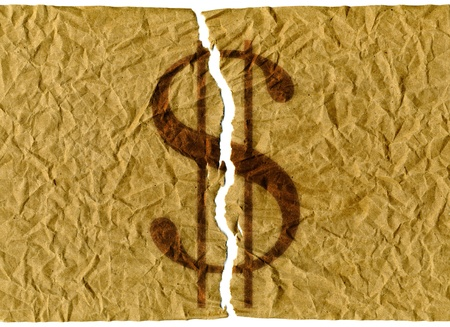 coined: Torn U.S. dollars