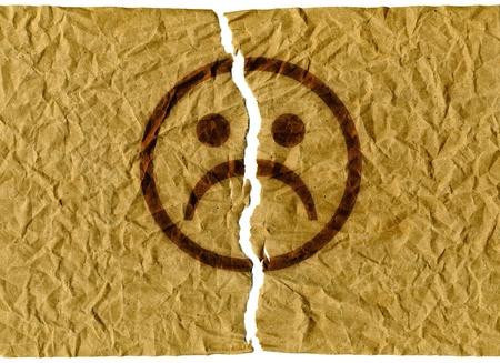 bad feeling: Torn face Stock Photo