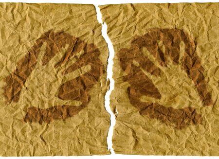 divided: handprints