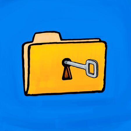 Painting folder key Stock Photo - 10654081