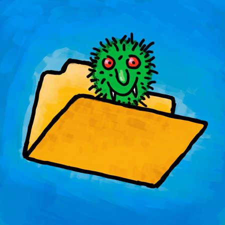 Painting folder virus Stock Photo - 10654074