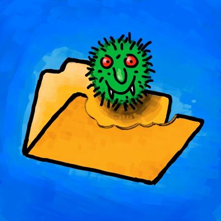 Painting folder virus photo