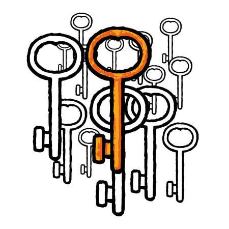 Keys Stock Vector - 10590212