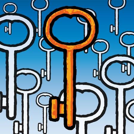Keys Stock Vector - 10590699