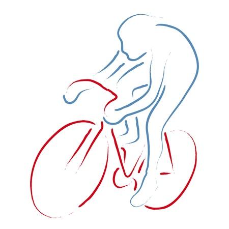 radfahren: Radrennfahrer Illustration