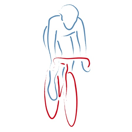 road cycling: cyclist Illustration