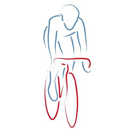 fietser Vector Illustratie