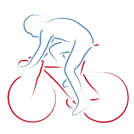 racing wheel: cyclist Illustration