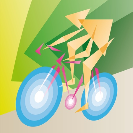 aerodynamic: cyclist Illustration