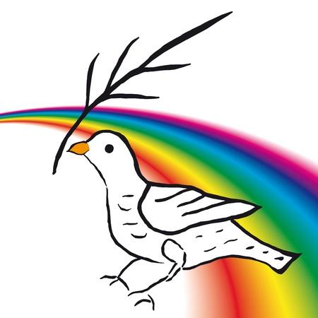 Duif van de vrede Vector Illustratie