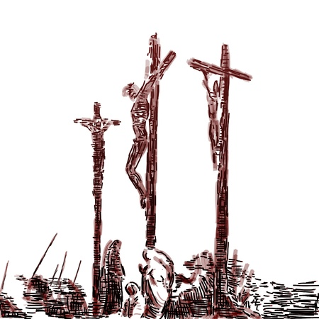 crucified: Crucifixi�n Foto de archivo