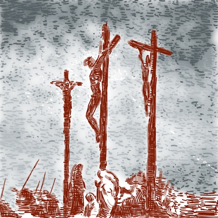 jesus paintings: Crucifixion