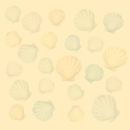 vague: shells background Illustration