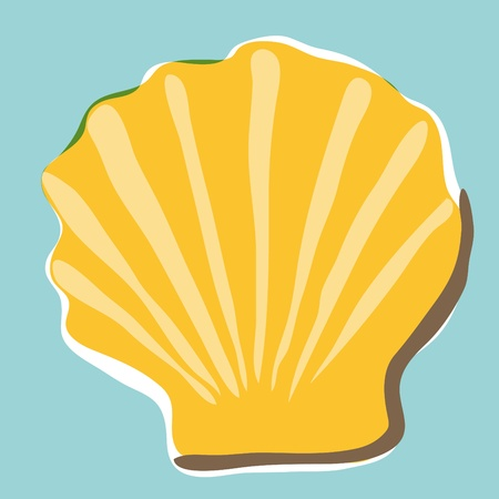 vague: shell background