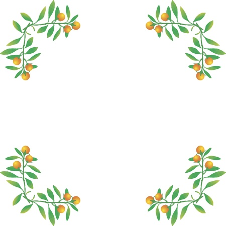 vegetable ornaments Vector