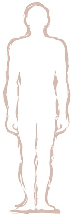 body silhouette: Man silhouette Illustration