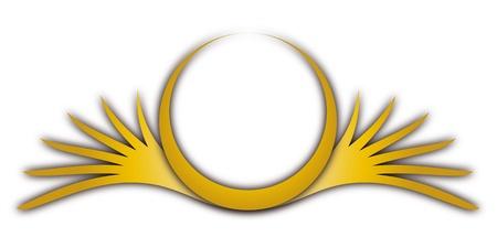 round logo: Crest Illustration