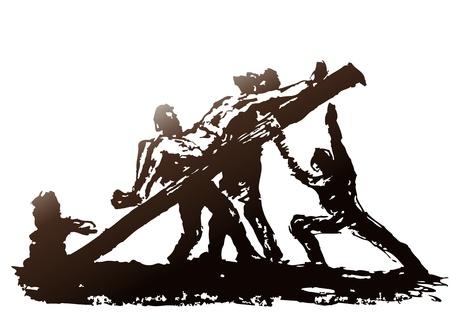 Crucifixion Stock Vector - 10590445