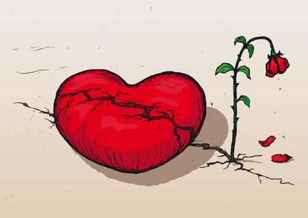 decepción: Corazón roto Vectores