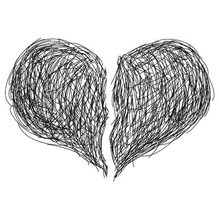 corazon roto: corazón roto Vectores