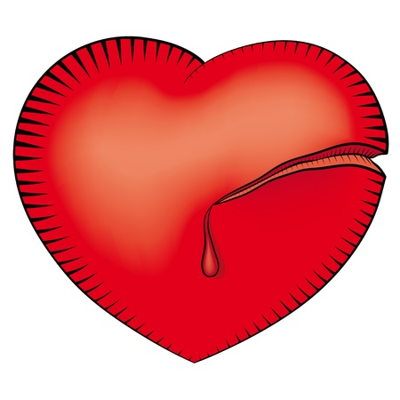 incision: wounded heart Illustration