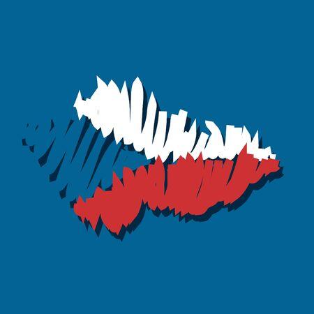 graphing: Mapa de la bandera de la Rep�blica Checa