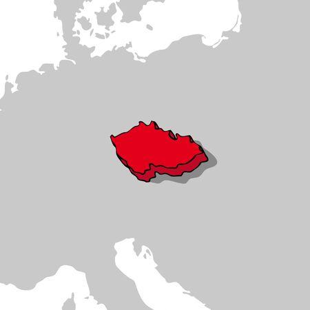czech republic: Republic czech 3d map