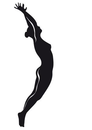 flexible woman: bailarina Vectores
