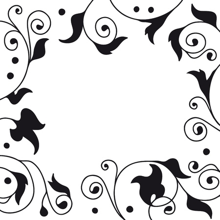curvilinear: plant frame Illustration
