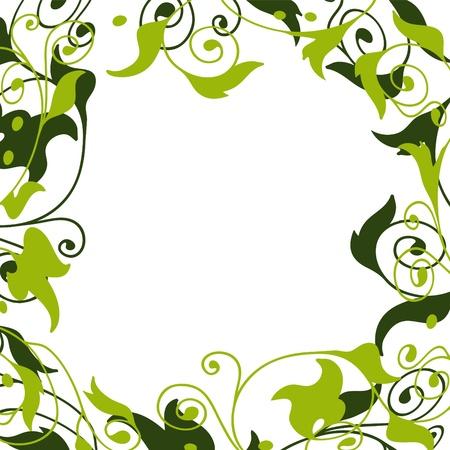 abstract art vegetables: plant frame Illustration