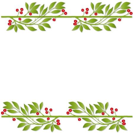 lineas decorativas: marco de planta