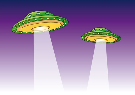 fantasy alien: Ufo Illustration