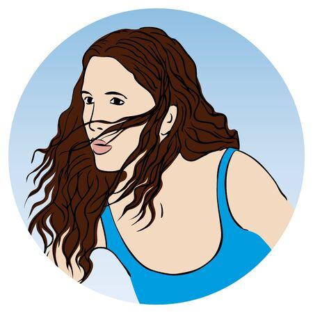 glam: A beautiful woman Illustration