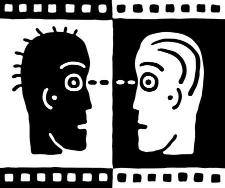 presencia: dos cabezas Vectores