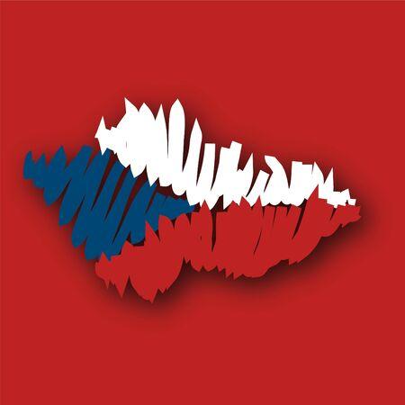 map flag Czech Republic photo