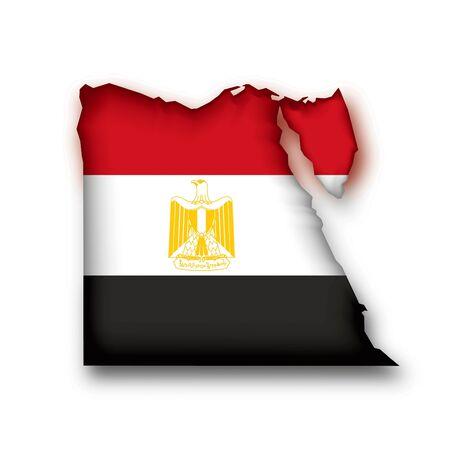 egypt flag: map flag Egypt