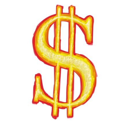 Us dollar symbol Stock Photo - 10619308