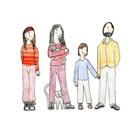 stylish boy: Drawing family