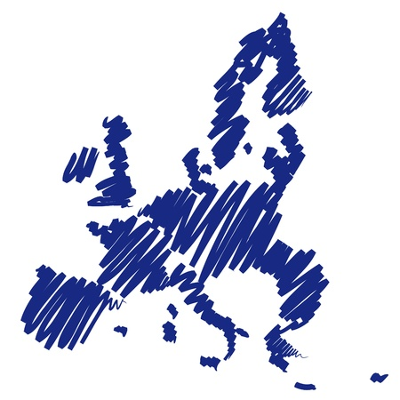 graphing: Map sketch Europe Stock Photo