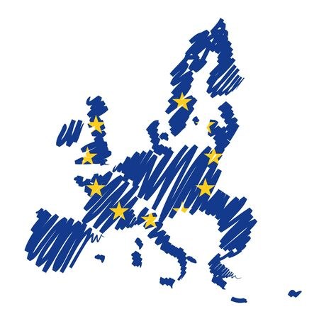Map sketch Europe Stock Photo - 10619202